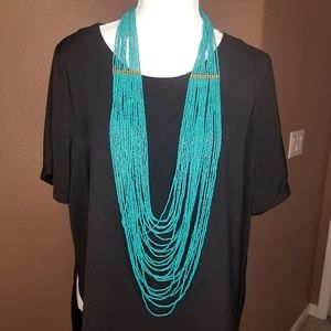 Long turquoise necklace
